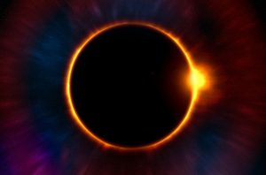 Image is of a solar eclipse.