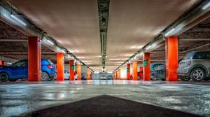 Image is the inside of a parking garage.
