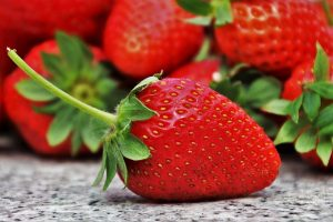 Image is a bunch of strawberries.