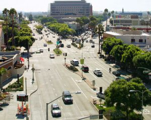 Image is a picture of Culver City from the air.